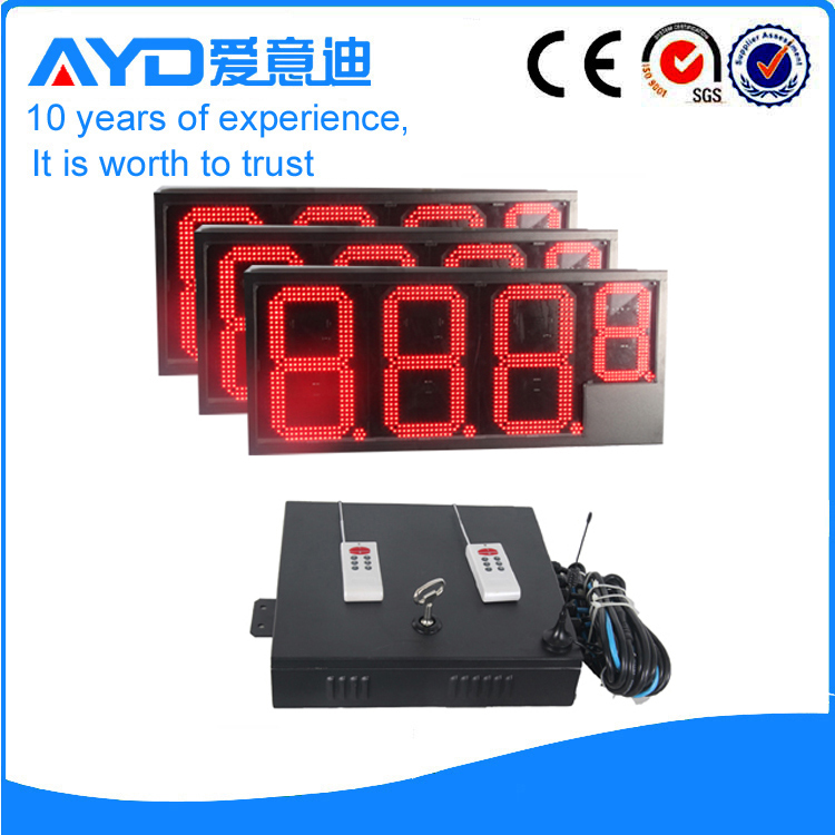 16 Inch Gas Station LED Price Sign Electronics 7 Segment LED Display