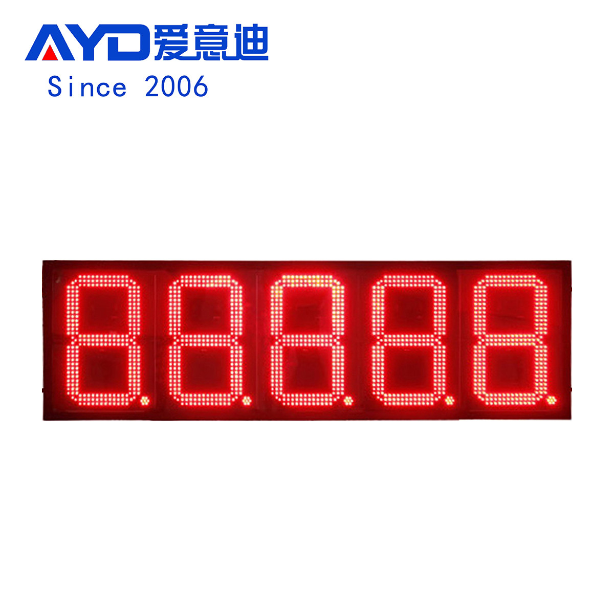 Dominican Waterproof 16 Inch Red Super Bright Led Gas Price Sign:GAS16Z88888R