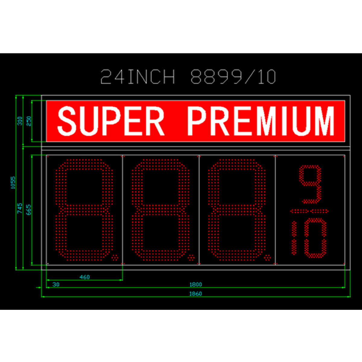 American  Super Premium LED Gas Station Signs