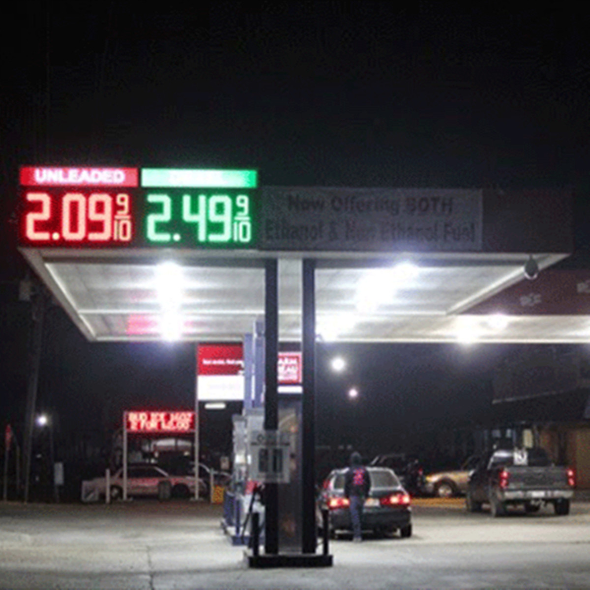 American  Unleaded LED Gas Station Signs