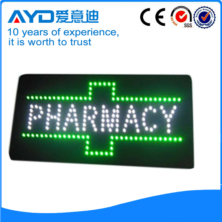 Single Side LED Pharmacy Cross Signs Acrylic LED Display