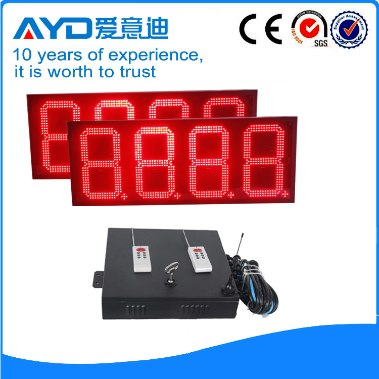 12 Inch 8888 Four Digits Red LED Pricel Sign Changers LED Display Panel