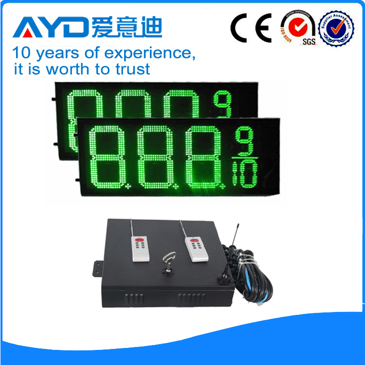 12 Inch 7 Segment LED Display LED Gas Price Sign