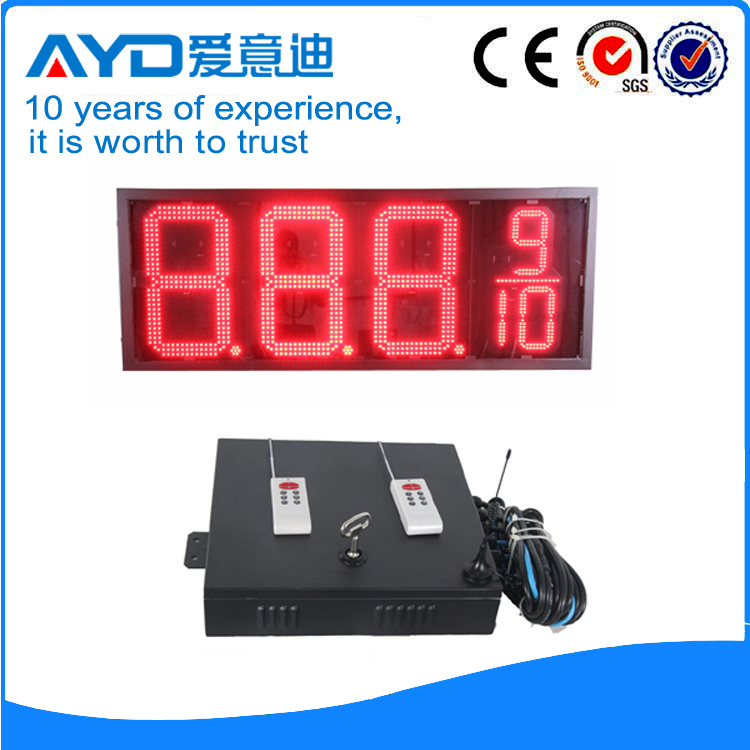20 Inch Red Price Parking Lot Space LED Display Screen 7 Segment LED Display