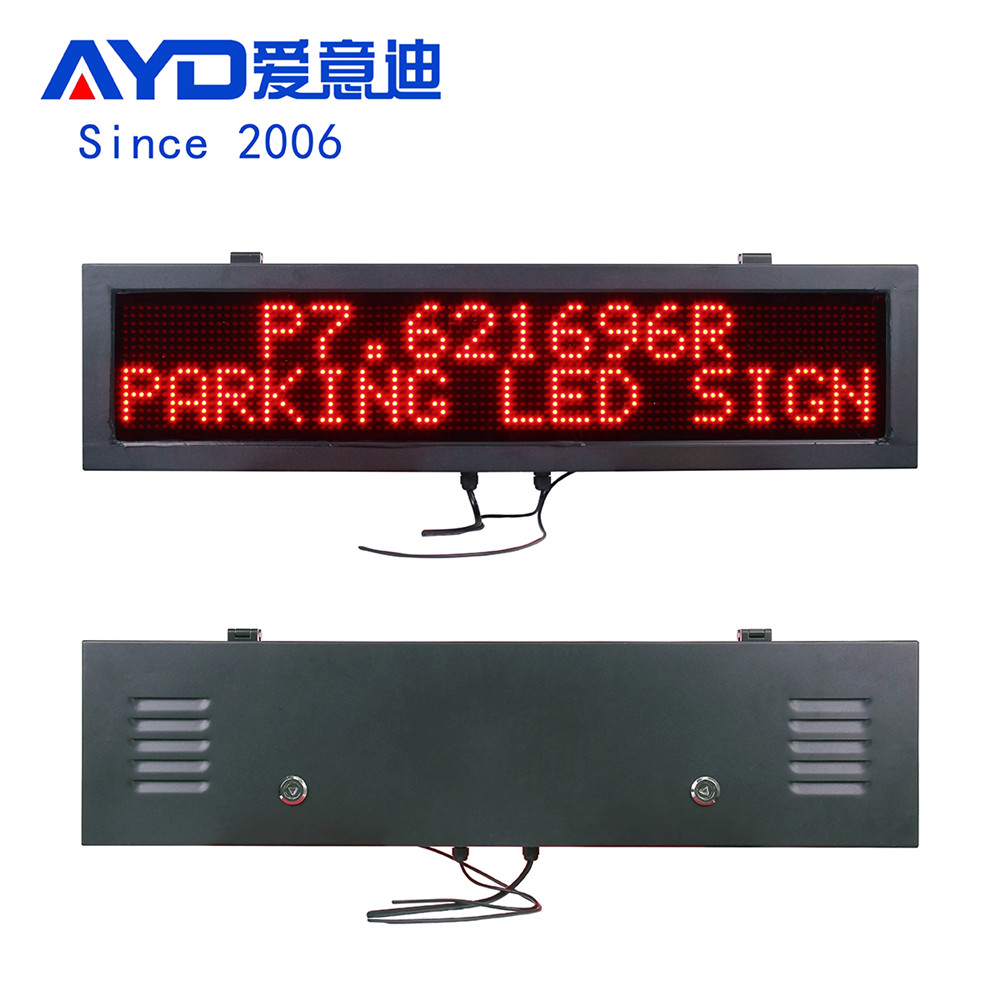AYD 96 Dot Red Parking Garage Signs With Pillar
