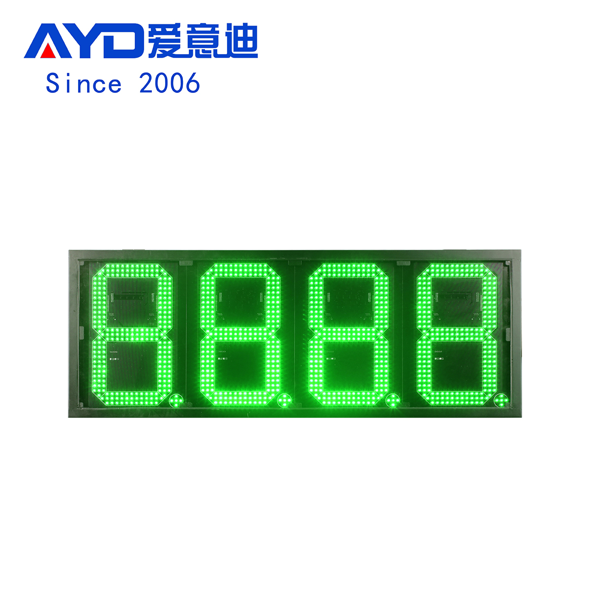 12 Inch Green LED Price Gas Signs