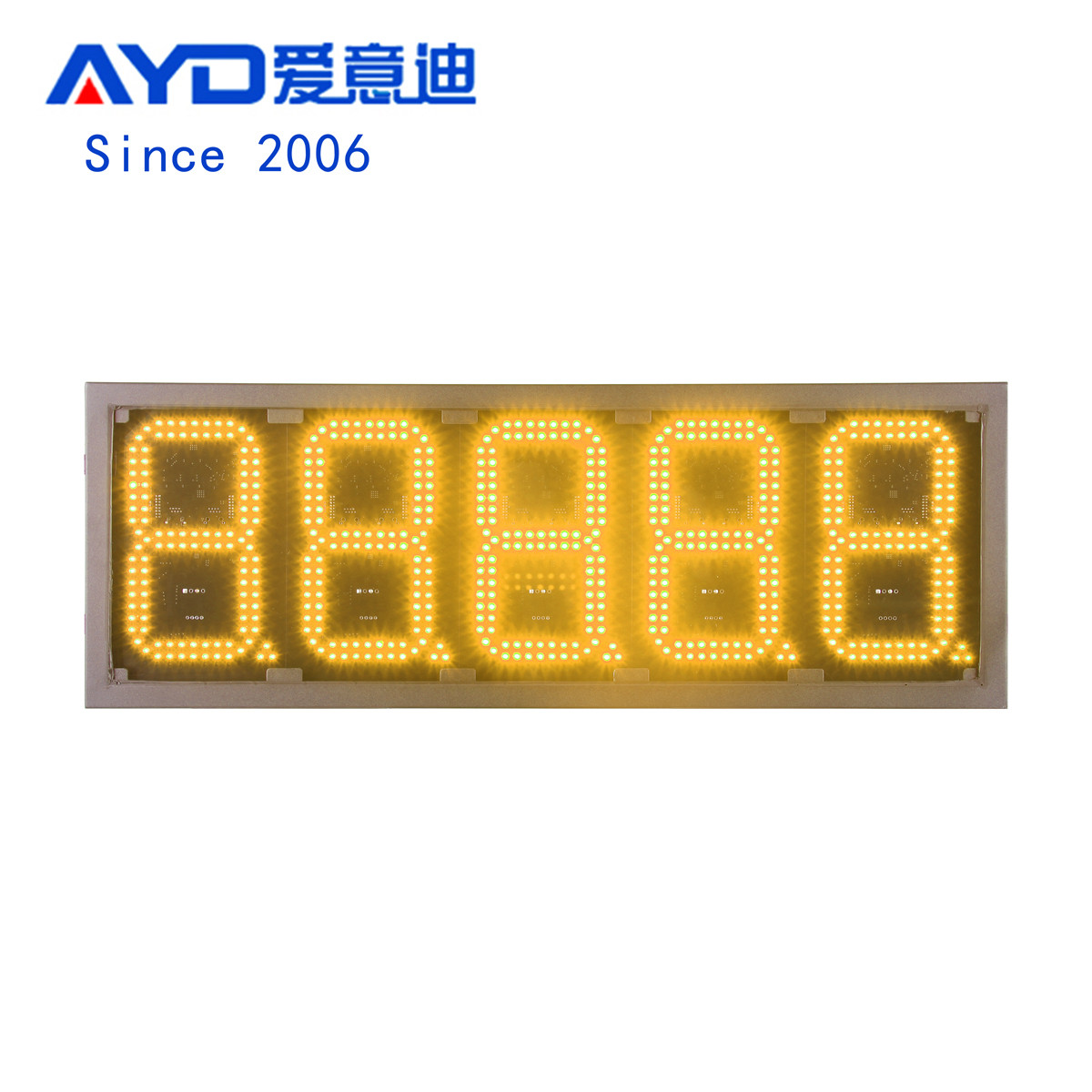 Canada Waterproof 8 Inch Yellow Led Price Gas Signs:GAS8Z88888Y