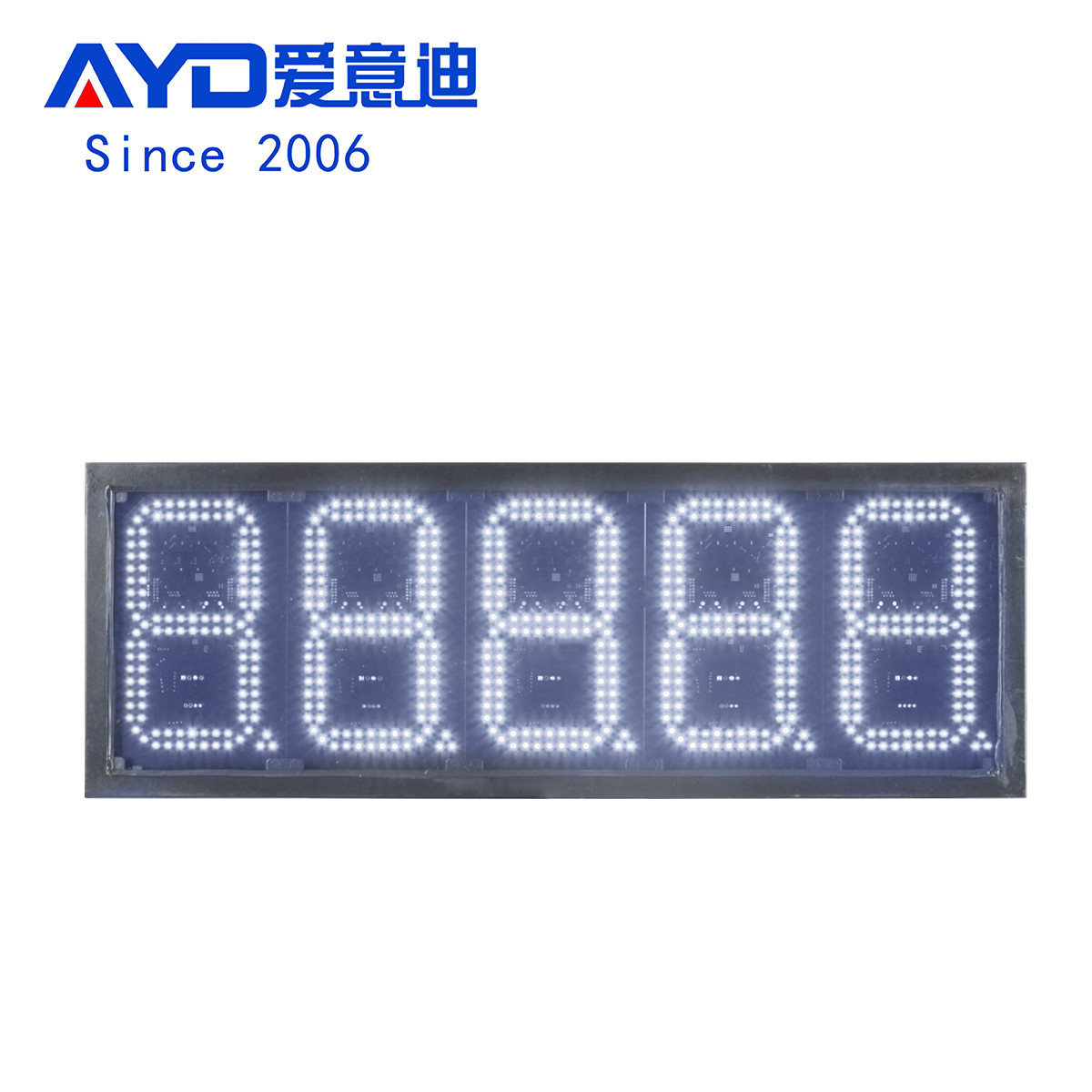 Canada Waterproof 8 Inch White Led Price Gas Signs:GAS8Z88888W
