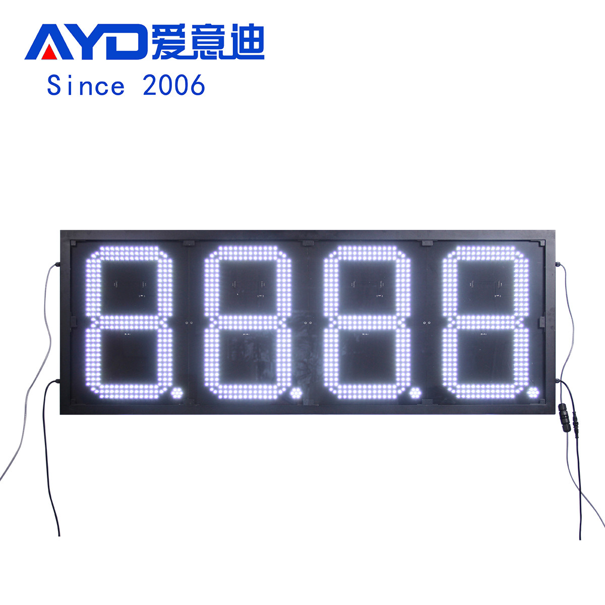 American Outdoor Led Gas Station Sign:GAS20Z8888W